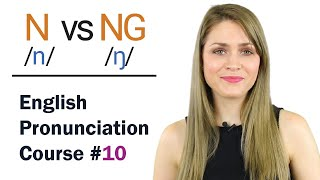 N /n/ vs NG /ŋ/ Consonant Sounds | Learn English Pronunciation Course | 44 Words