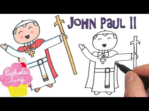 How To Draw St. Pope John Paul II