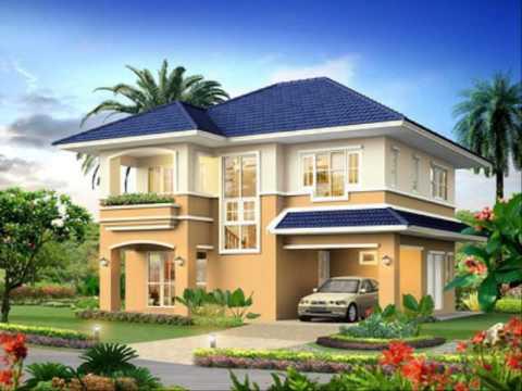 ออกแบบสวนหน้าบ้าน บ้านพักชั้นเดียว