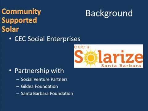Santa Barbara's Community Environmental Council -- Encouraging Solar Photovoltaics