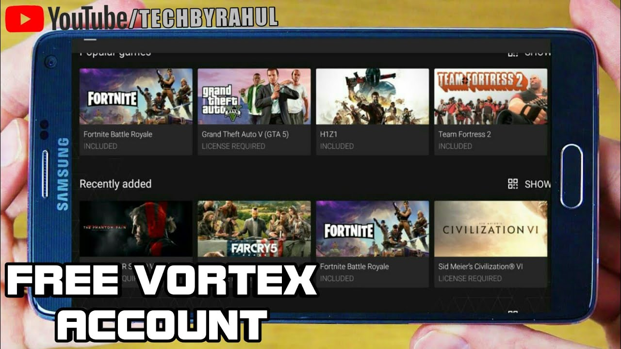 GET FREE VORTEX ACCOUNT AND PLAY ALL GAMES FOR FREE