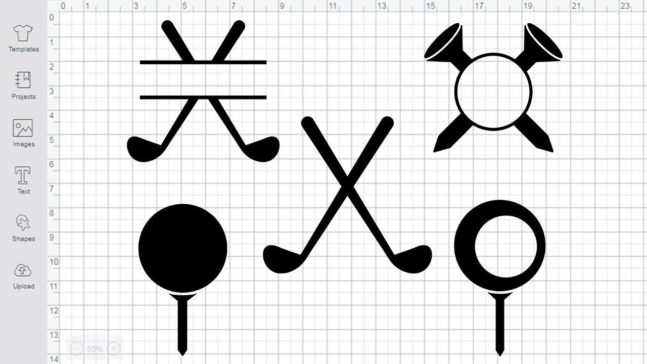 Download Golf SVG Cutting Files for Cricut Silhouette Golf Monogram ...
