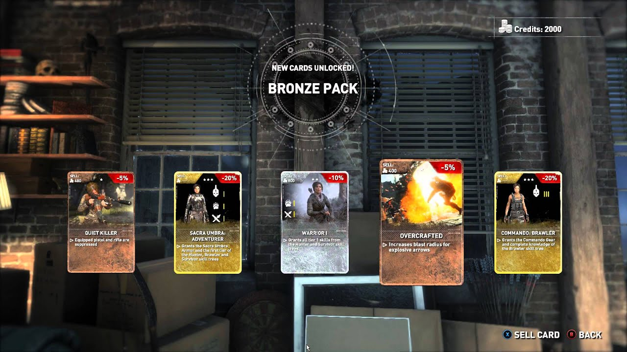 The cards give you the option to make those modes either easier or harder. Rise of the Tomb Raider- Card packs! - YouTube