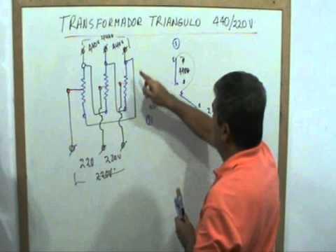 Transformador, secundario triangulo 440 v    220 v