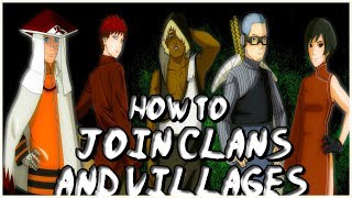 ROBLOX Shinobi Life OA - How To JOIN CLANS AND VILLAGES