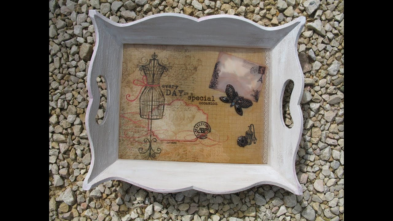 art hobby video plateau vintage avec r sine epoxy. Black Bedroom Furniture Sets. Home Design Ideas