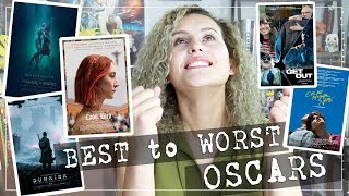 Best to Worst! RANKING the Best Picture Oscar Movies 2018