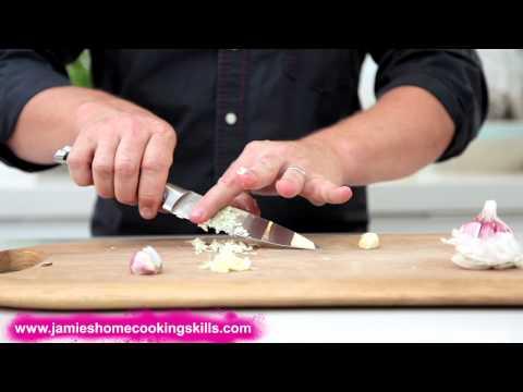 Jamie Oliver talks you through preparing garlic