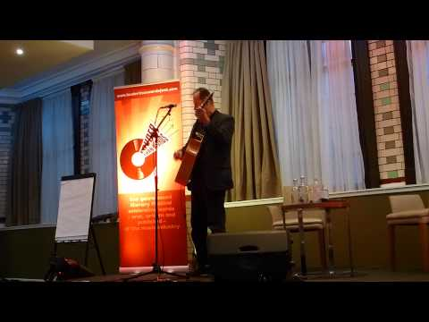 Hugh Cornwell plays 'Golden Brown' at Louder Than Words Festival, Palace Hotel Manchester.