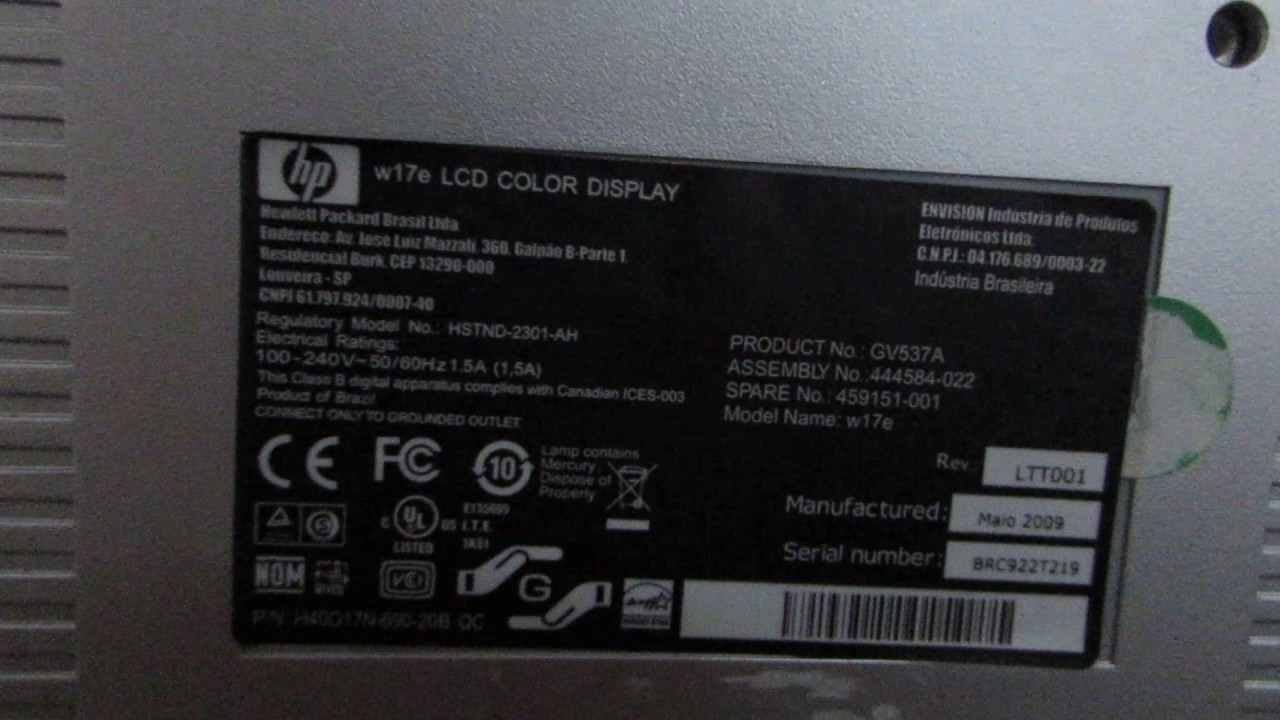 HP W17E MONITOR 64BIT DRIVER DOWNLOAD