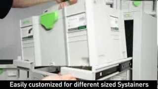 Festool Sys Port 500/2 Systainer Port Tool Storage Cabinet With 3 Roller Draws 491921 - Ptc Tools Uk