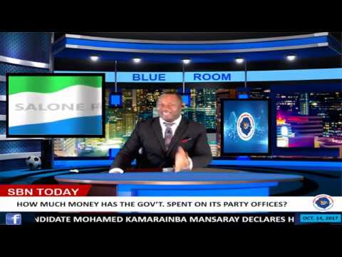 SBN LAUNCHES THE BLUE ROOM - NEW STUDIO - SALONE ELECTIONS HEADQUARTERS