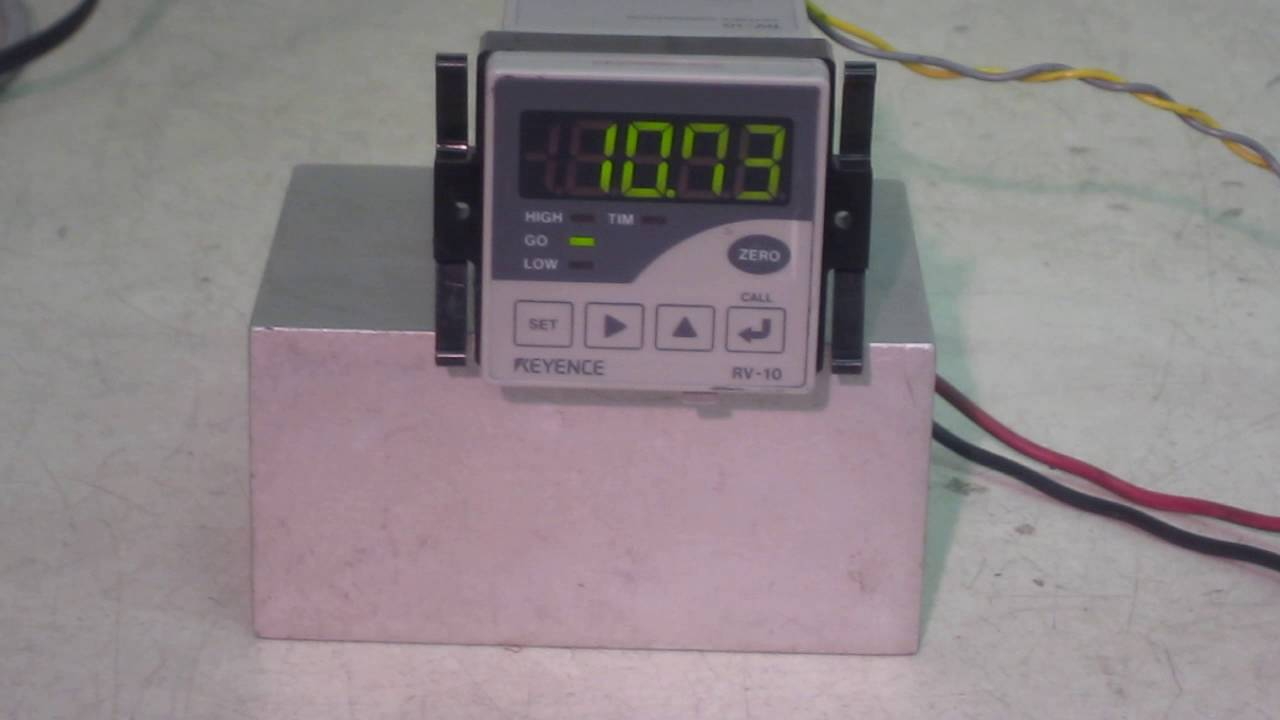 KEYENCE RV10 Small digital meter relay YouTube – Keyence Nsor Wire Diagram
