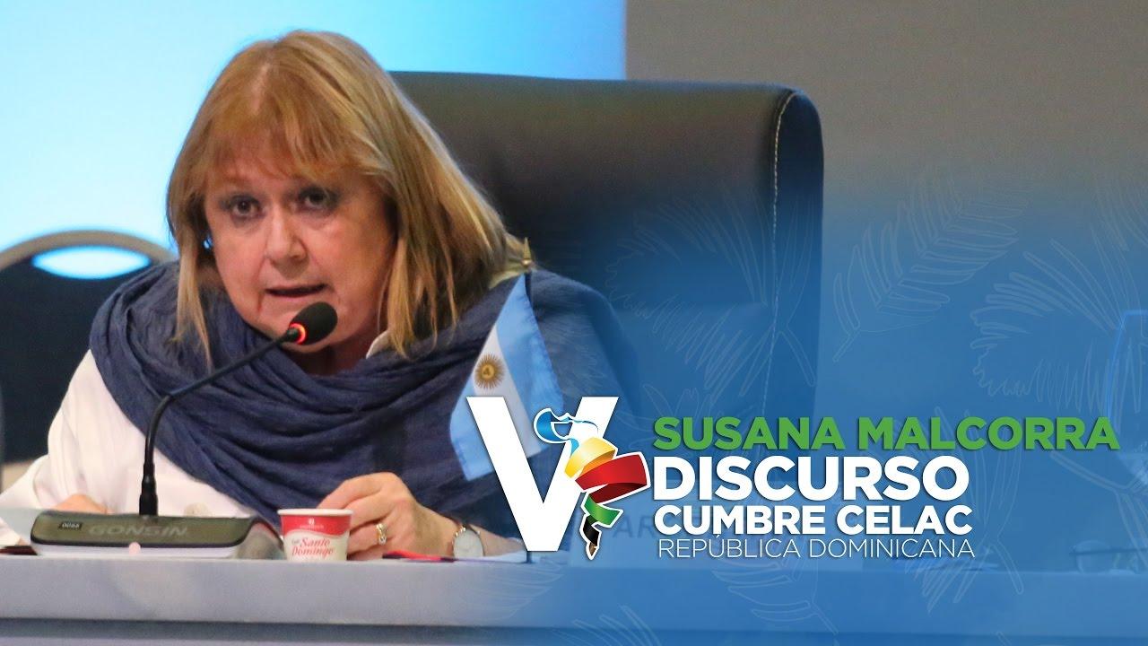 Discurso Susana Malcorra, Ministra de Relaciones Exteriores Argentina V Cumbre Celac 2017
