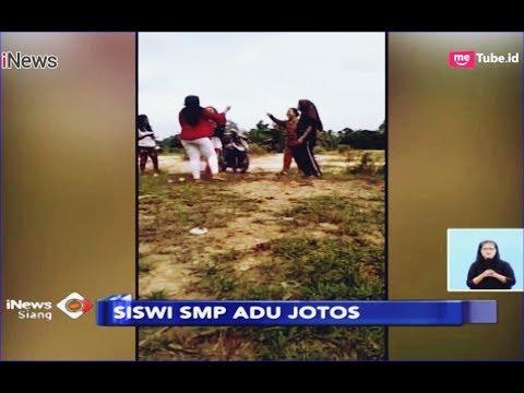 VIRAL! Saling Ejek, 2 Siswi SMP di Merangin Terlibat Adu Jotos - iNews Siang 26/01