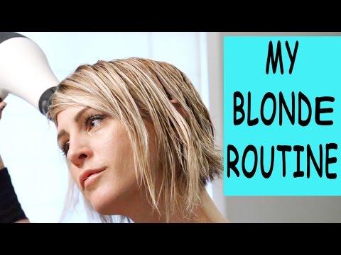 my-blonde-routine
