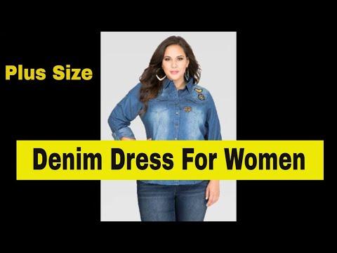 Top 25 Plus Size Denim Dress For Women Fashion World