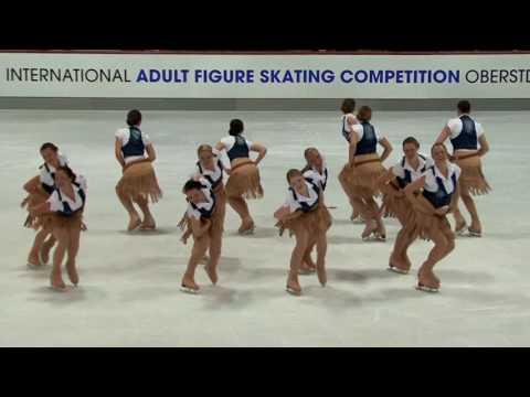 Team Berlin AdultSynchronized Skating2016 Oberstdorf