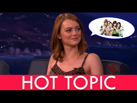 Emma Stone Reveals She's Obsessed With K-Pop and 2ne1| HOT TOPIC!