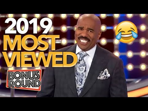 MOST VIEWED 2019 Family Feud Steve Harvey Questions & Answers | Bonus Round