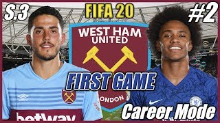 FIRST GAME AGAINST RIVAL | FIFA 20 #2 West Ham Career Mode | Season 3 / Видео