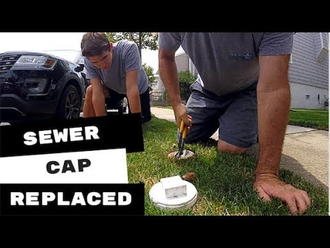 PVC Sewer Clean out Cap Cut By Lawn Mower Replaced