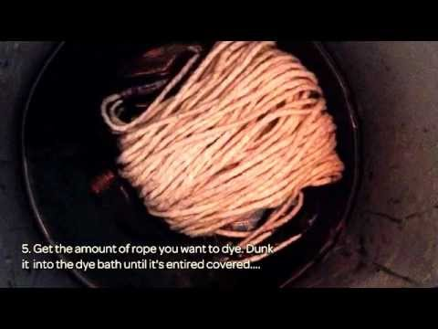 How To Dye In A Easy Way A Simple Twine Rope  - DIY  Tutorial - Guidecentral