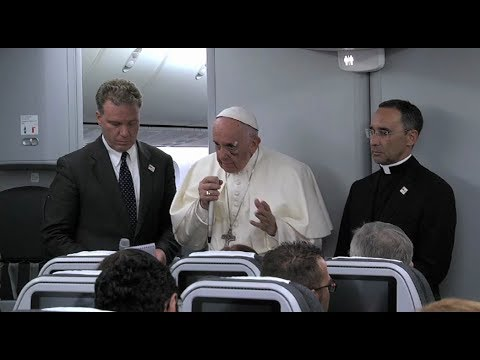 Dialogue between Pope Francis and journalists during the return flight from Colombia