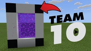 How To Make a Portal to the Team 10 Dimension in MCPE (Minecraft PE)