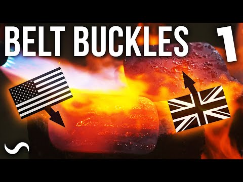 MAKING FLAG-MASCUS BELT BUCKLES!!!!! UK + USA!!! Part 1