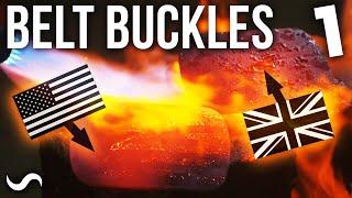 MAKING FLAG-MASCUS BELT BUCKLES!!!!! UK + USA!!! Part 1