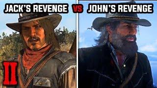 Jack's Revenge vs John's Revenge (All Epilogue Ending) - Red Dead Redemption 1 and 2