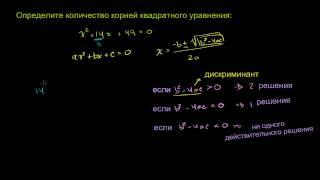 Формула корней квадратного уравнения 3