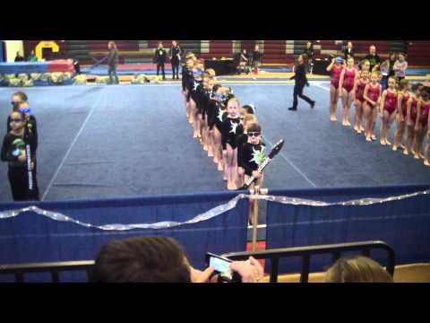 Rockstar Invitational Grand March (01-29-12) Roanoke Academy Gymnastics