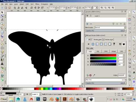 Use Inkscape to Convert Raster Graphic to Vector Graphic