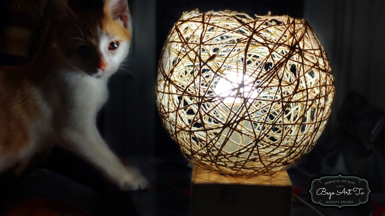 Haz CONMIGO una LAMPARA AMBIENTAL con LANA o Hilo by Bego Art