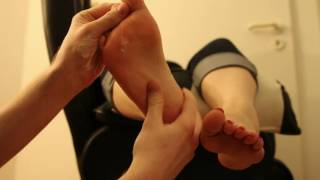 Foot slave foot massage