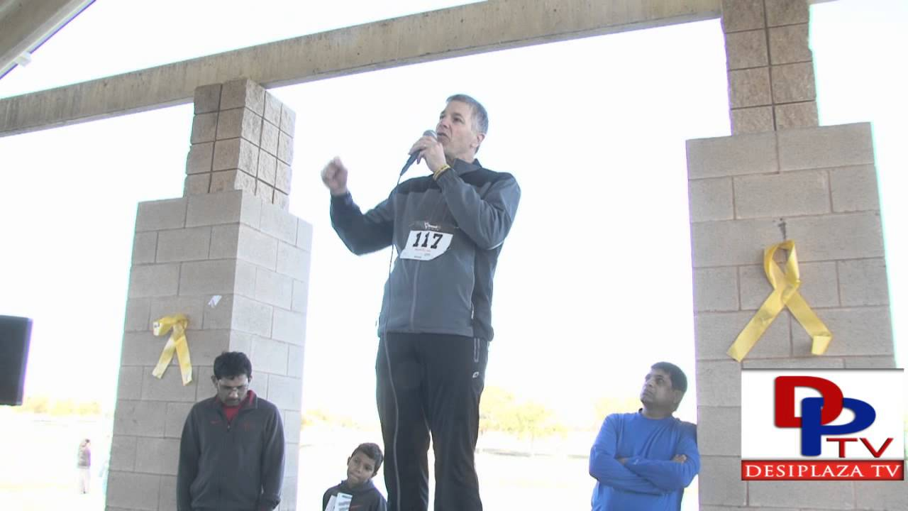 Dr.James Amatruda from UT Southwestern,speaking at DATA 4th Annual 5K Run/walk
