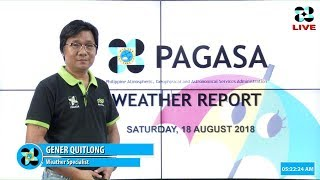 Public Weather Forecast Issued at 4:00 AM August 18, 2018