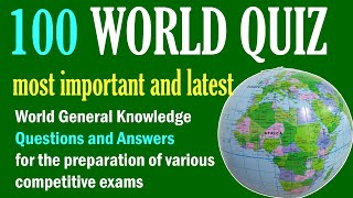 100 World GK Quiz Questions and Answers | World Trivia Quiz | World General Knowledge GK questions screenshot 2