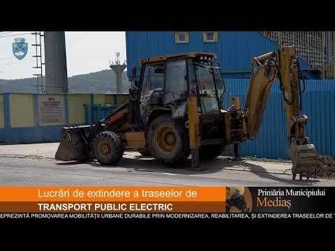 Lucrări de extindere a traseelor de transport public electric.