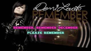 Demi Lovato - Remember December (karaoke / instrumental)