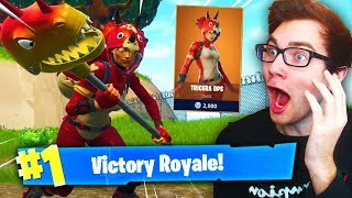 The LEGENDARY TRICERA OPS Skin Is HERE! (FIRST Fortnite Victory Royale Gameplay!)