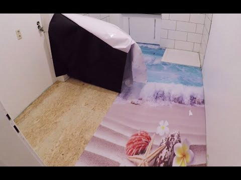 how to make an 3D Floor with 2K Epoxy Resin DIY cómo hacer un piso epóxico 3D 2K Epoxid Boden 3D