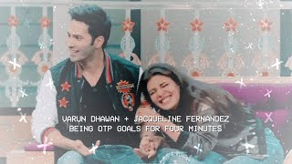 ❥ varun dhawan & jacqueline fernandez being otp goals for four minutes straight.