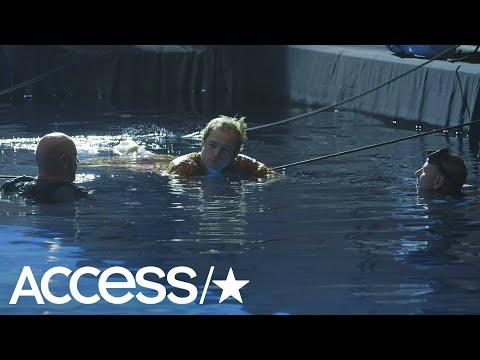 Taron Egerton Was 'Frightened' Filming 'Rocketman' Underwater In Exclusive Behind-The-Scenes Clip