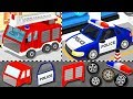 Build Police Car, Fire Trucks for Children | Car Factory For Kids -  Learning Videos For Toddlers