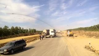 Дтп. Трасса караганда-Астана.. Цементовоз..