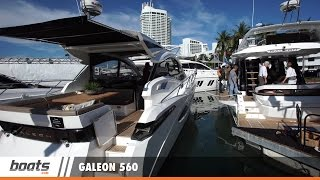 Galeon 560 Skydeck: First Look Video