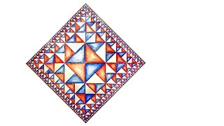 How To Draw Geometric Pattern Of Squares With Infinite Edges